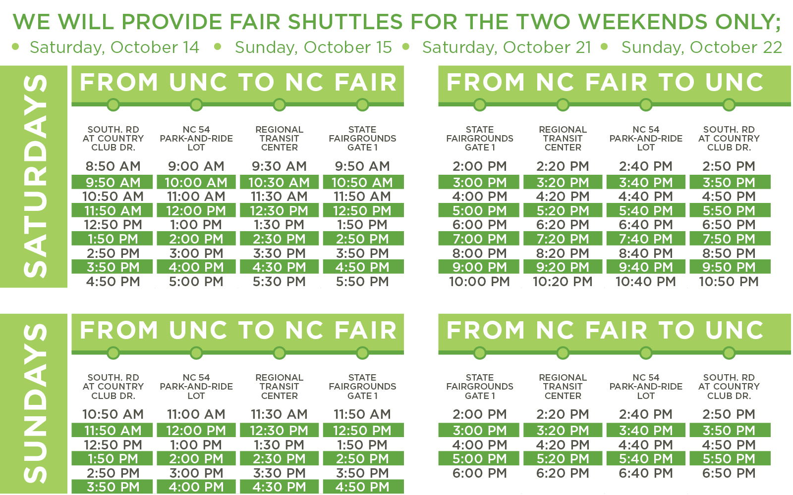 gotriangle fair shuttle