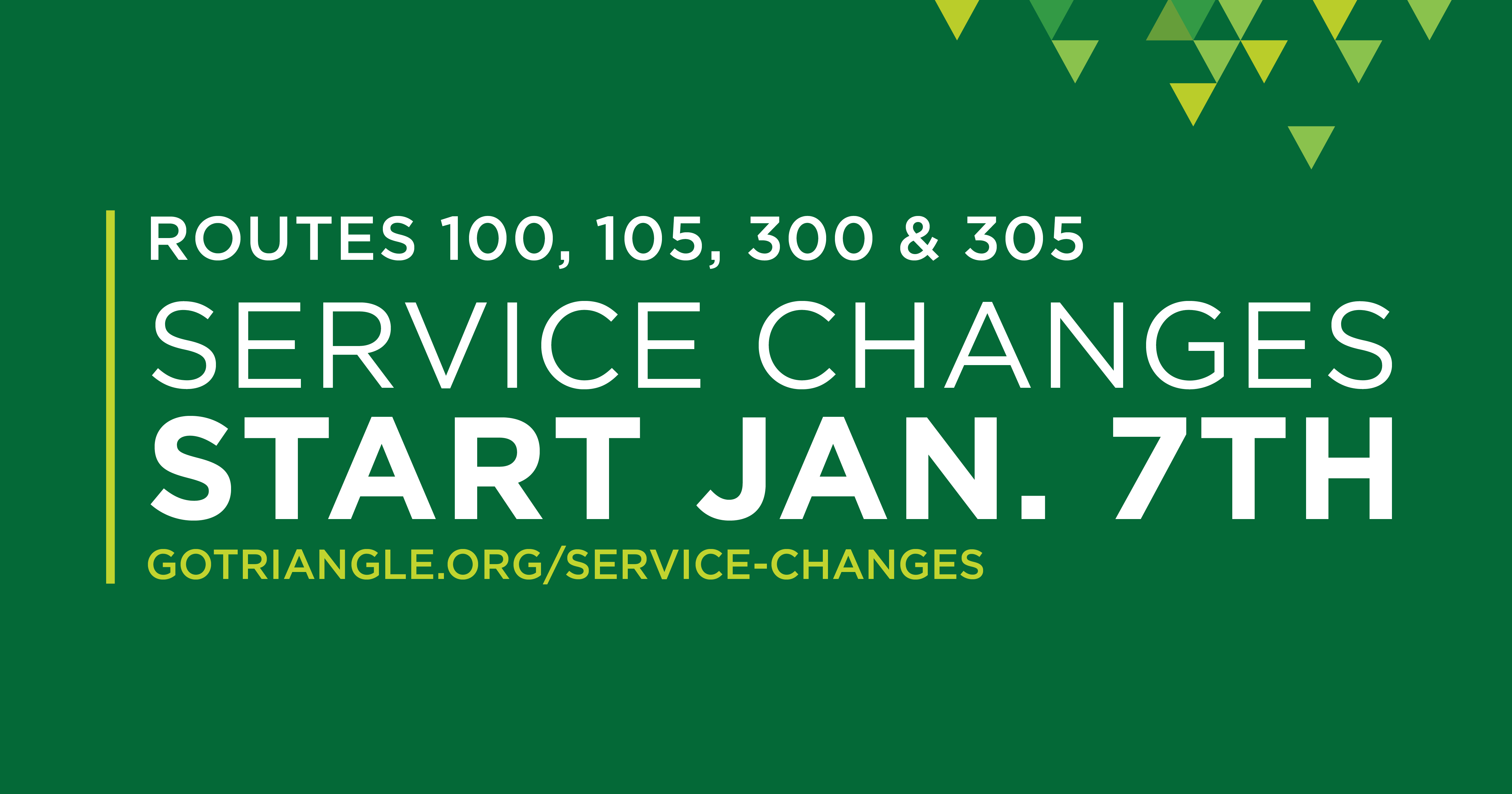 service changes january 2019