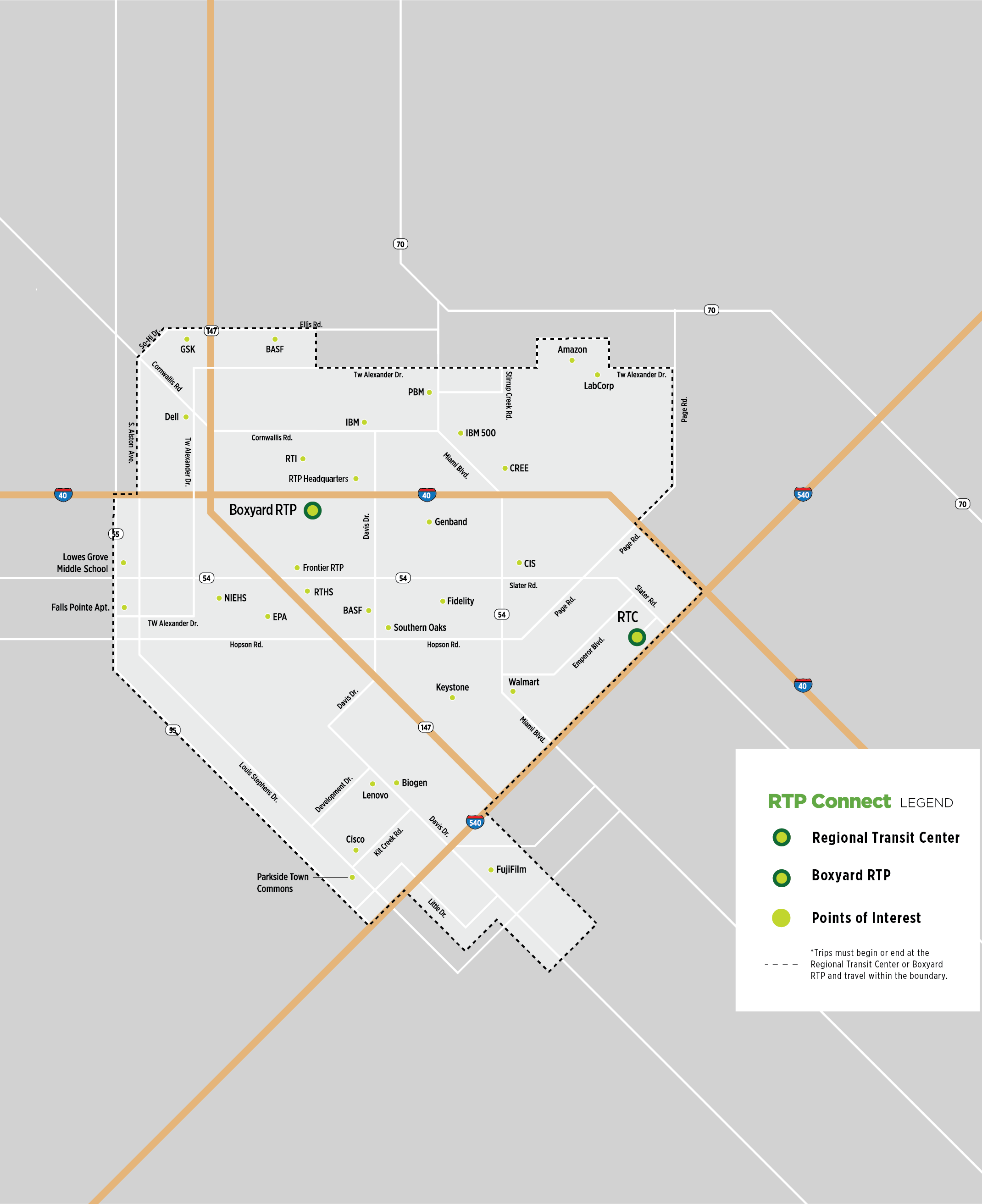 RTP Connect Map 2021