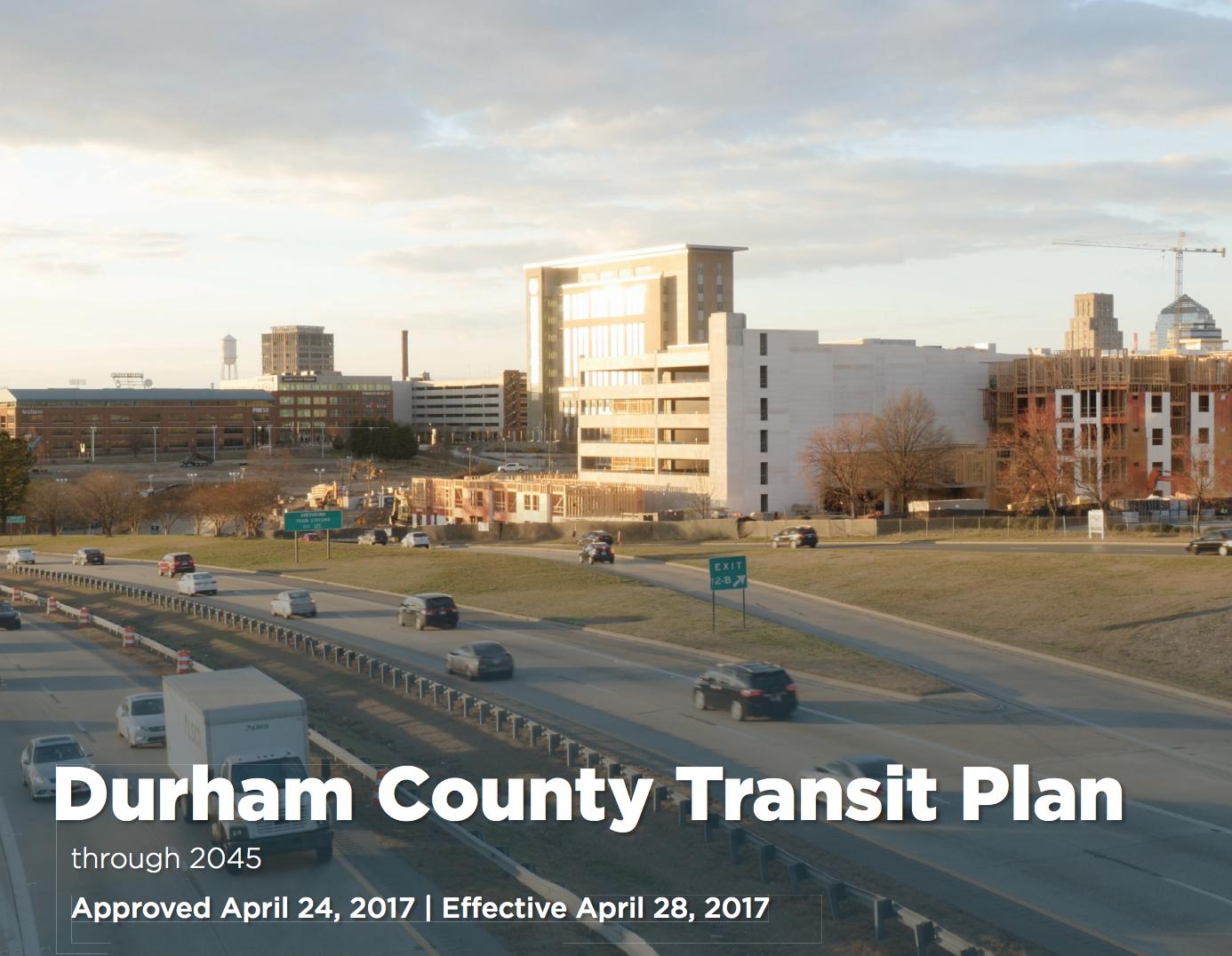 Durham County Transit Plan screenshot