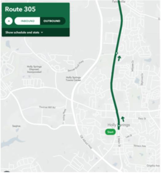 Route 305   Inbound