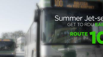 Summer Jet-settin'? Get to RDU easy with Route 100.