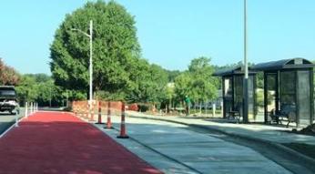 Red bus lane