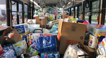 hurricane relief bus