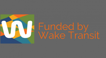 Funded by Wake Transit logo